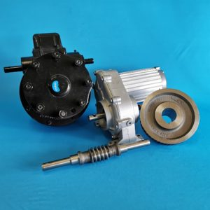 Gearbox, motors and drive unit
